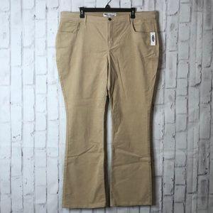 NWT Old Navy Tan Sweetheart Corduroy Pants